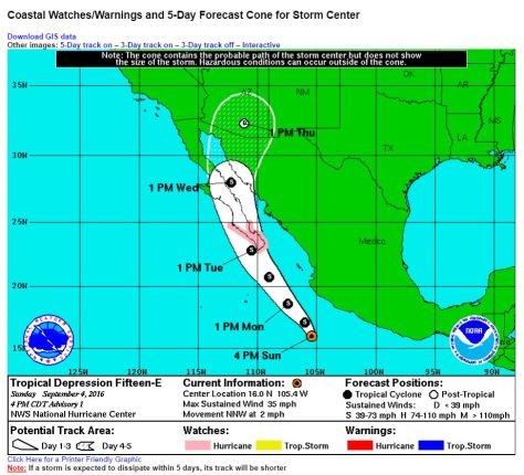 Cabo La Paz Hurricane Watch